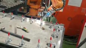 五金板材机械手激光焊接